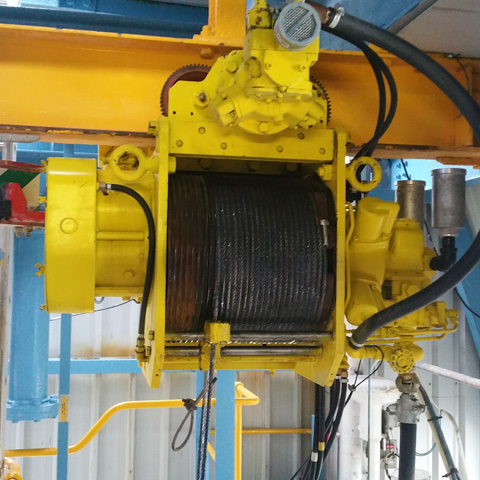 Complete Refurbishment of 6 Off Globe Air Powered Wire Rope Hoists