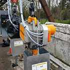 Design, Supply, Installation & Commissioning Of 2 Off 7.5t + 7.5 t swl Tandem Lifting PLC Controlled Sluice Gate Lifting Systems. Using Large Capacity Electric Chain Hoists on the River Thames