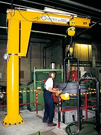 Floor Mounted Pillar Jib Crane