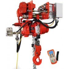 "Red Rooster (RRI) - ""Compact"" Industrial Air Chain Hoist With Motor Trolley"
