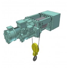 Electric Wire Rope Hoists - ATEX Footmounted Design, Italkrane, PIK Series