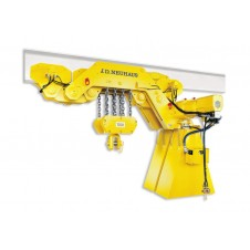 Ultra low headroom air hoist