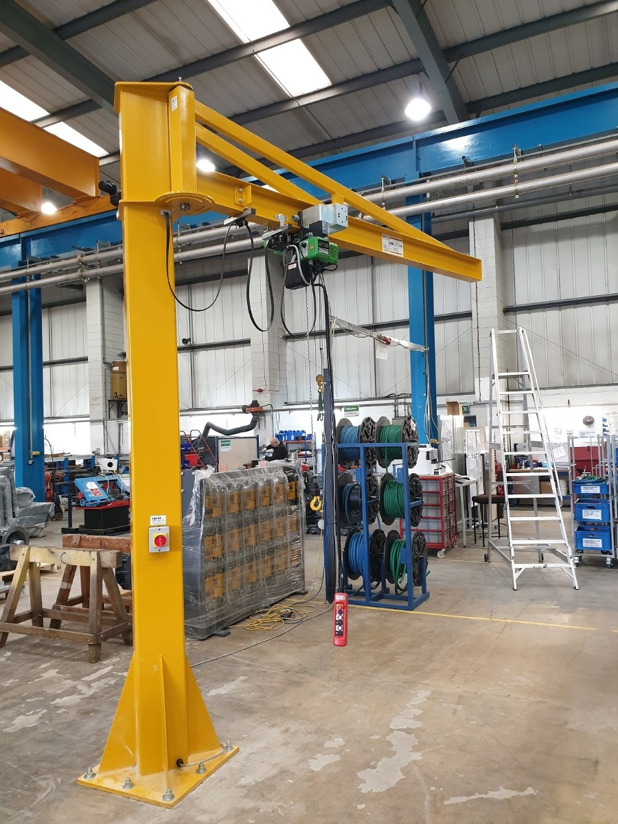 250 kg Swl Jib Crane with Electric Hoist