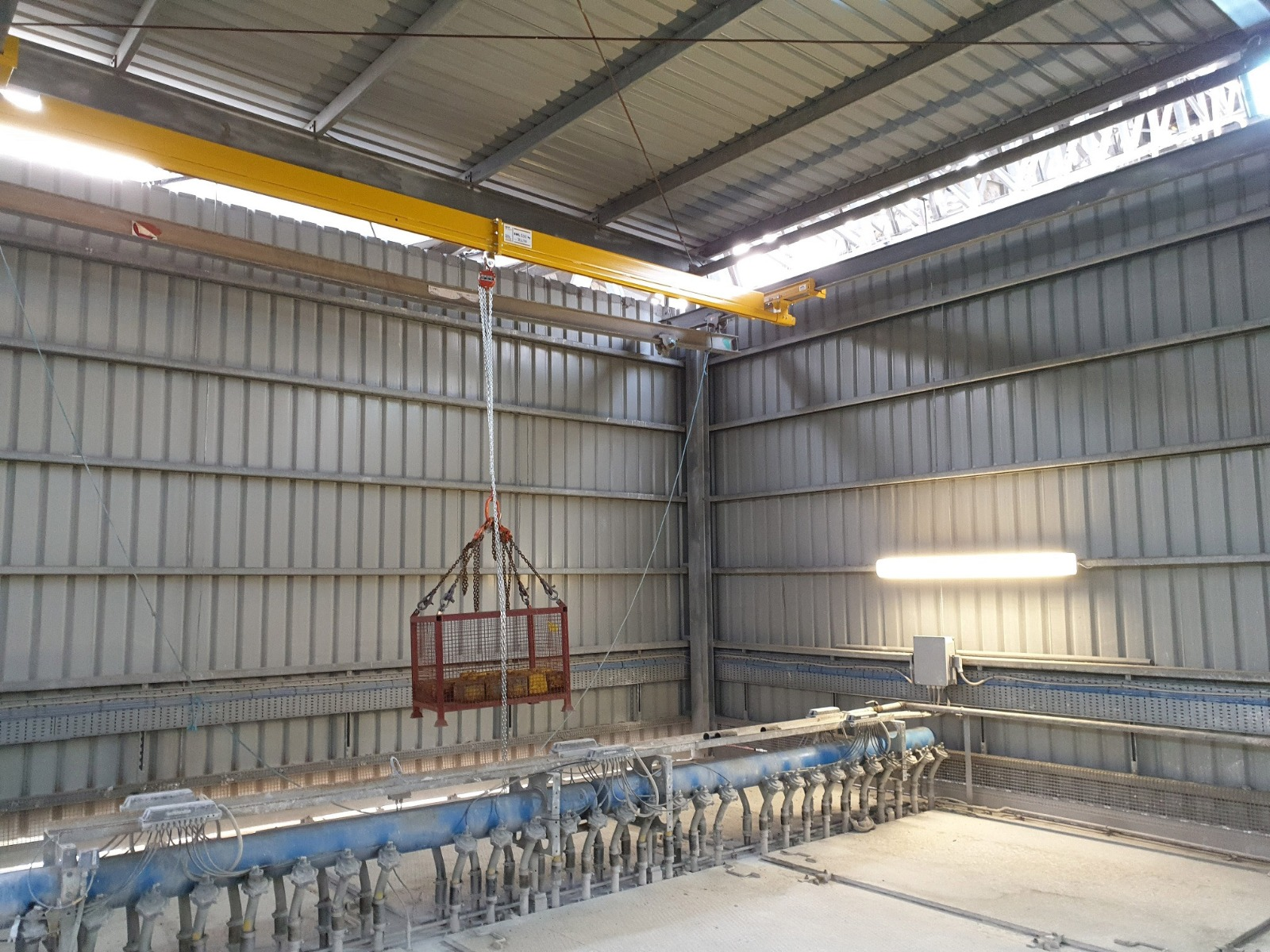 load test of 500 kg Swl light crane