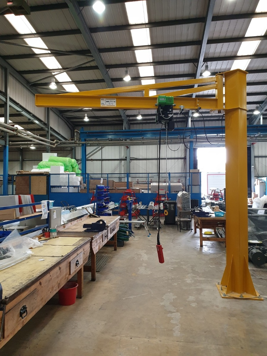 Manual Slew Jib Crane with Stahl Electric Hoist