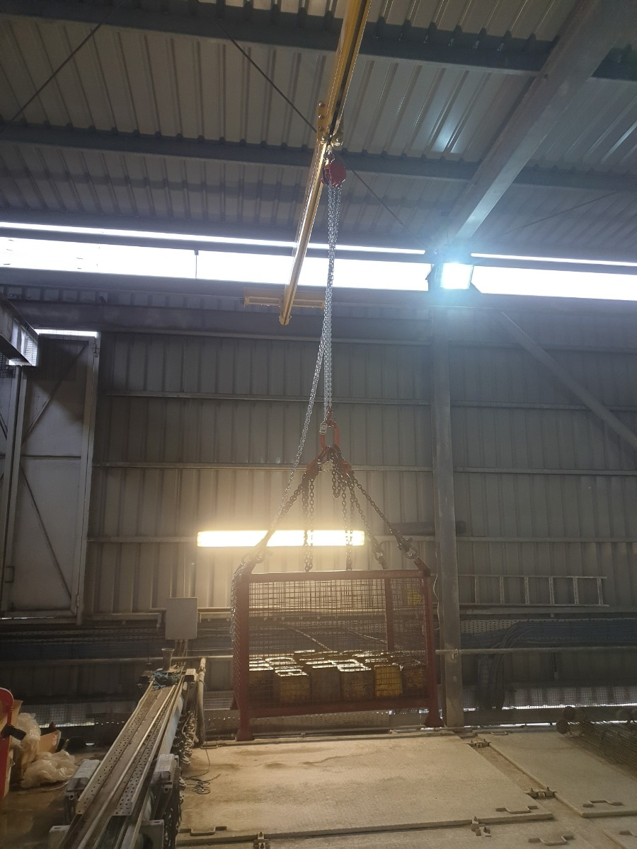 load test of crane