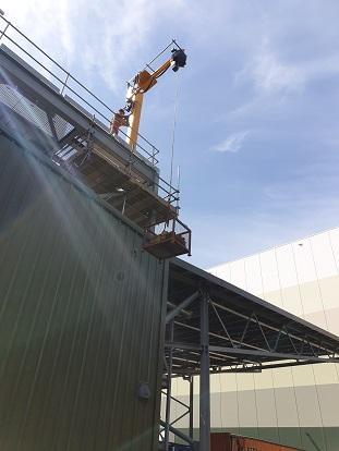 Britvic Jib Crane Load Test